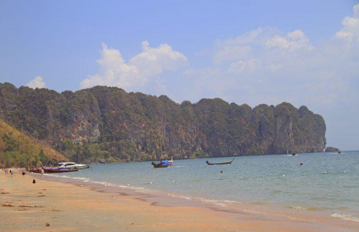 Ao Nang beach in Krabi province, Thailand