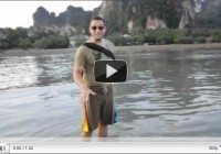 The sandy and the muddy sides of Railay Beach in Krabi