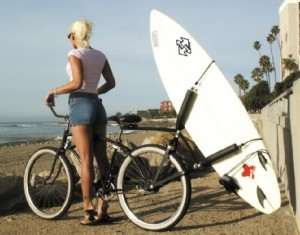 cruiser with surfboard rack