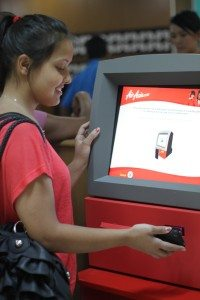 Air Asia Check in using mobile phone