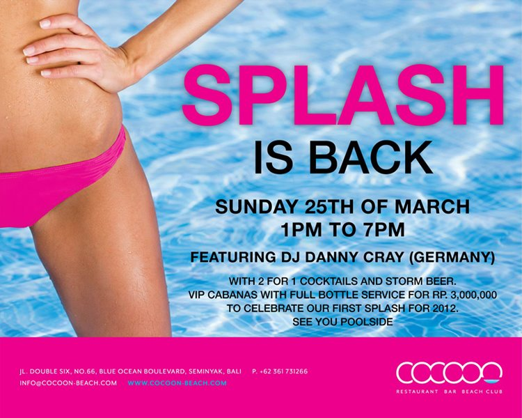 Splash Pool Party at Cocoon