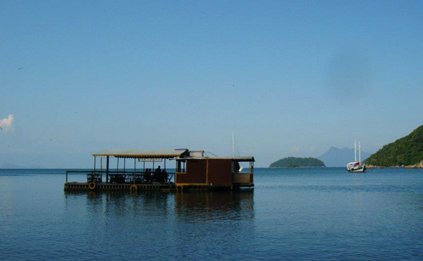 Ilha Grande Brazil floating bar
