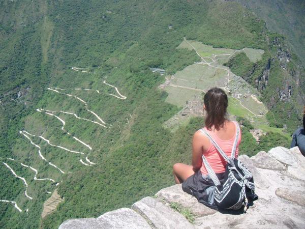 View from Waynu Picchu Peru