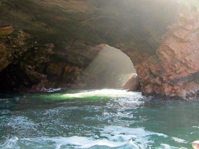 Islas Ballestas cave