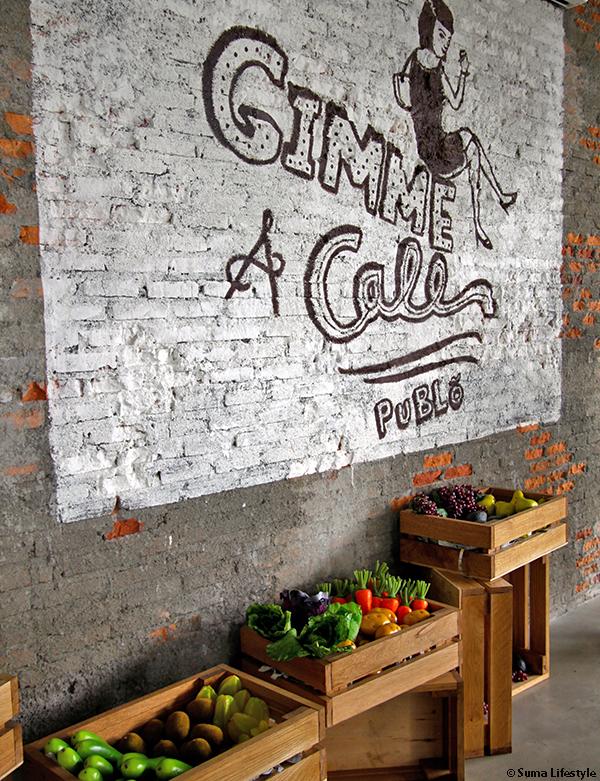 Publo Restaurant Kemang Jakarta Brick Wall
