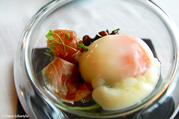 Jaan Restaurant Artisanal Cuisine 55 Rosemary Smoked Organic Egg
