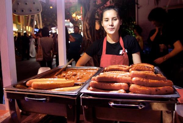 Clarke Quay Oktoberfest Bratwurst