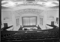 Interior of the Embassy Theatre, Wellington, looking towards the stage, ca 1925