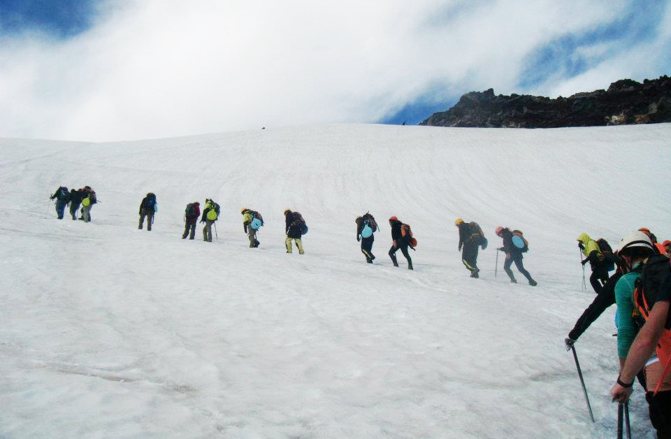Climbing Mt Villarica in Pucon Chile