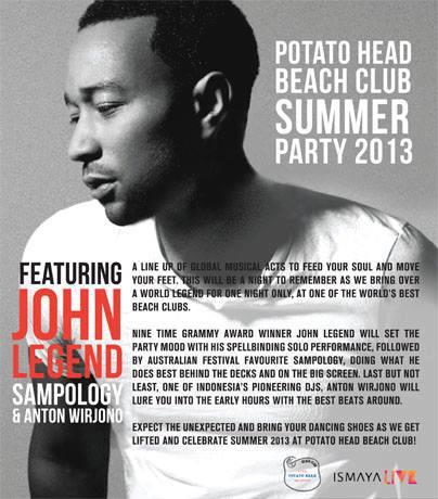 John Legend at Potato Head Beach Club