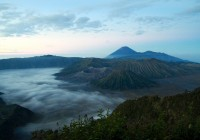 Sunrise Over Mount Batok and Mount Bromo