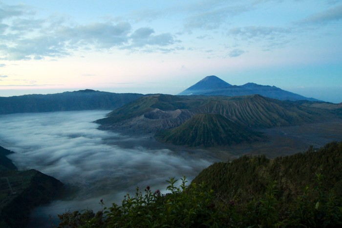 View of Mount Bromo from Mount Batok