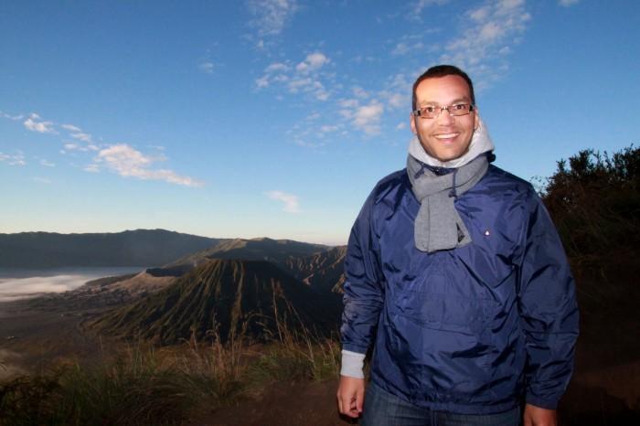 View of Mount Bromo from Mount Batok