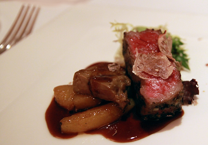 Chef Giacomo Gallina steak at the Lighthouse at The Fullerton Hotel