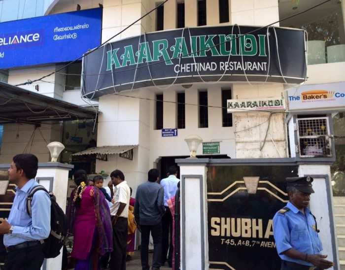 Stopover in Chennai restaurant