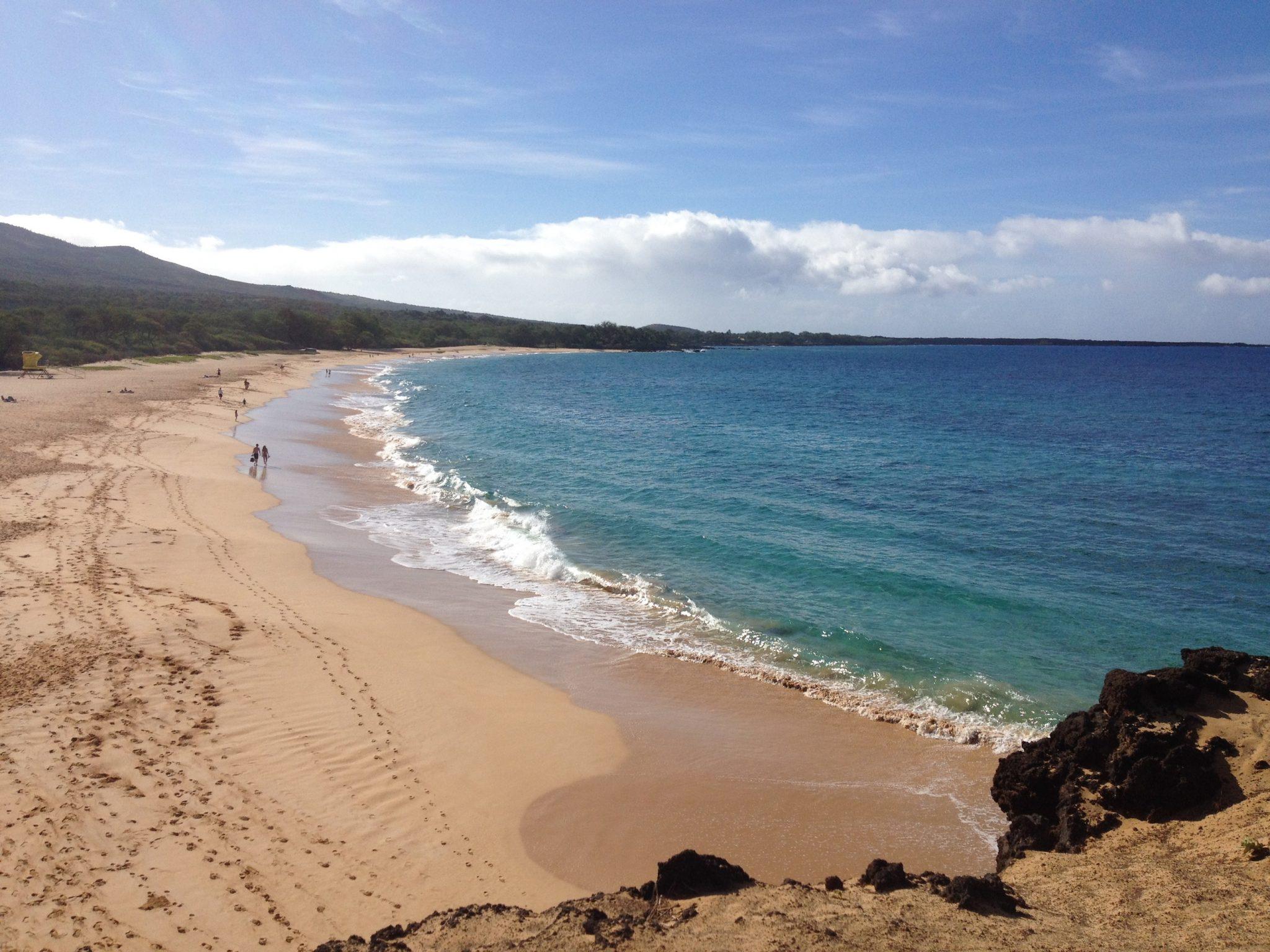 "Makena State Park, ""Big Beach"".  Hawaii"