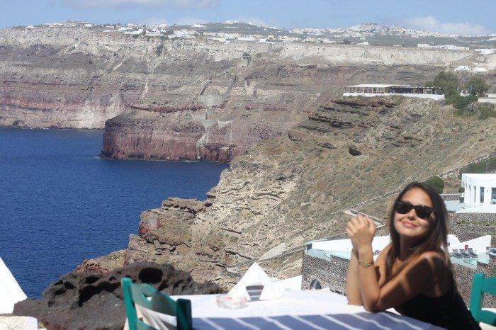 cliff side restaurants Akrotiri, Santorini Greece