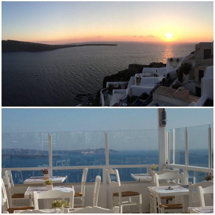Pelekanos Rooftop Cocktail Bar Oia Santorini Greece