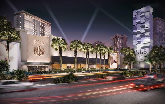 SLS Las Vegas Exterior Hilton Curio