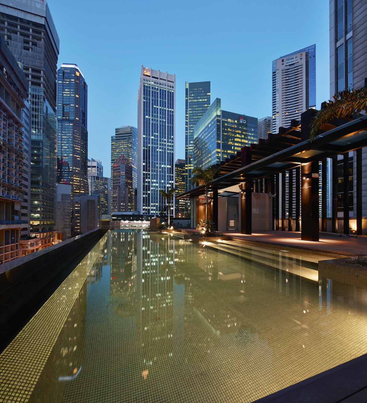 HI-SO Rooftop Pool & Bar with our signature Golden-tiled pool