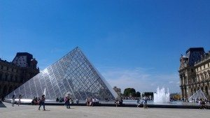Pyramids in front of the Louvre