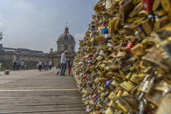 Love padlocks at Pont des Arts
