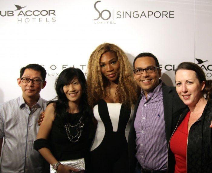 Mingling with Serena Williams and Le Club Accorhotel members at Sofitel So Singapore