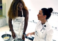 Serena Williams serves Apple Tart Normand at Sofitel So Singapore