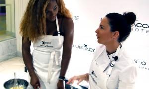 Serena Williams serves Apple Tart Normand at Sofitel So Singapore