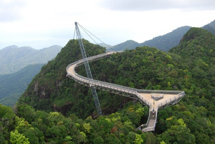 Langkawi sky bridge in Langkawi Island, Malaysia