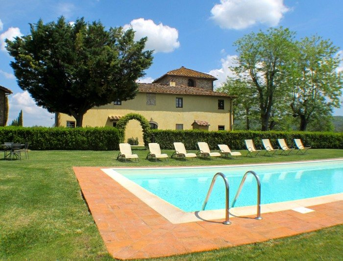 Villa S Andread Chianti Italy pool view
