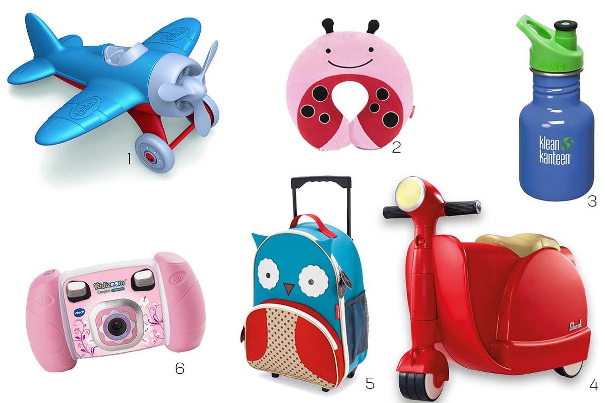 Cute kids travel luggage camera toys and neck pillow for Travel gear for toddlers