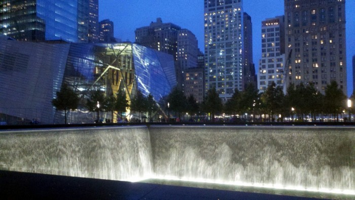 """September 11th Memorial and Museum"" by User:Aspensti. Licensed under CC BY-SA 3.0 via Commons - https://commons.wikimedia.org/wiki/File:September_11th_Memorial_and_Museum.jpg#/media/File:September_11th_Memorial_and_Museum."