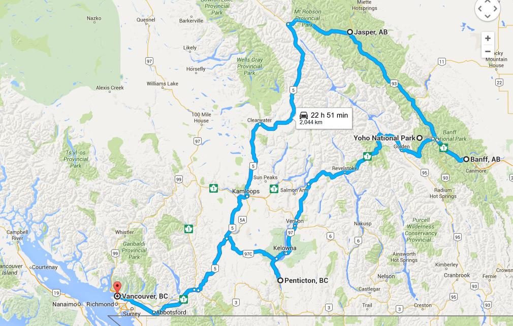 5 Day Rocky Mountain Road Trip