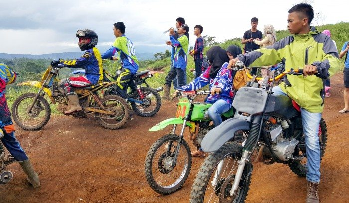 Dirt Biking in Pagar Alam South Samatra Indonesia