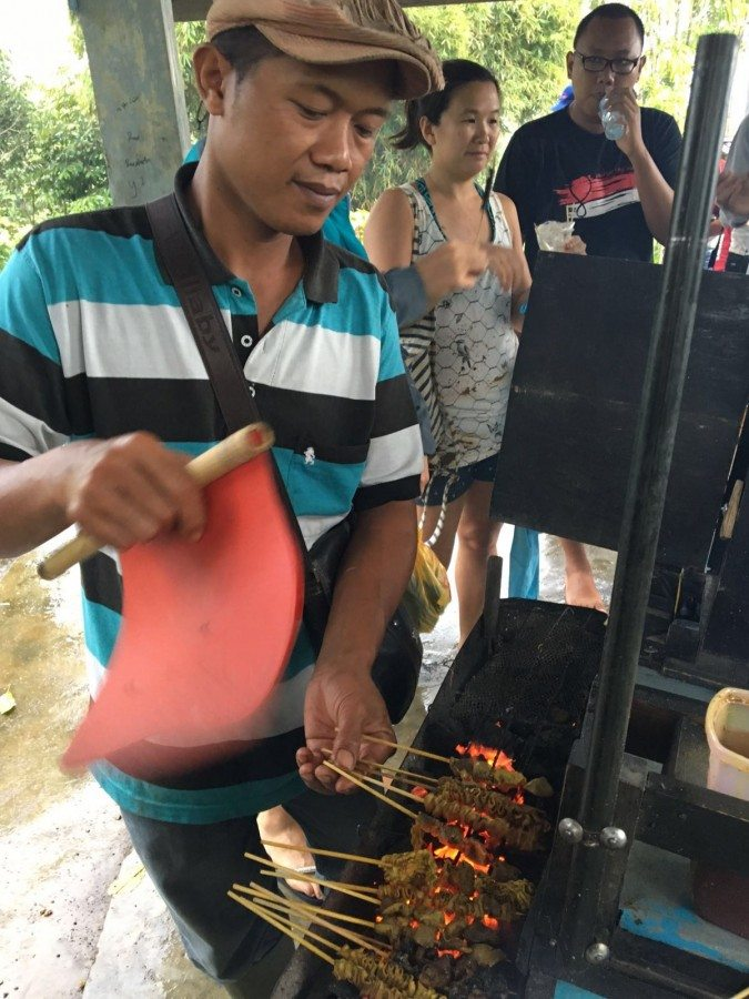Sate Vender in Pagar Alam, South Sumatra