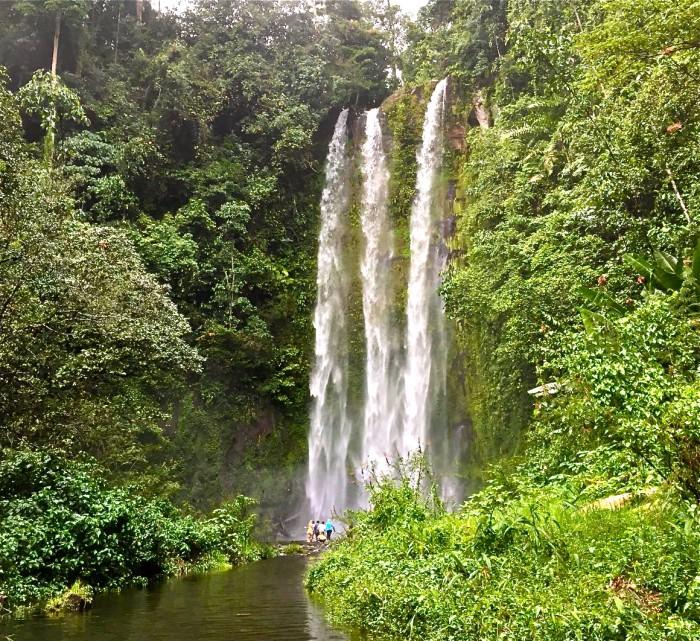 Curup Embun Waterfall in Pagar Alam, South Sumatra