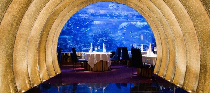 Most luxurious things to do in Dubai - Al Mahara restaurant