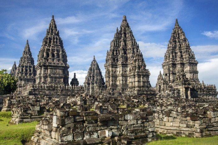 Prambanan temple near Yogyakarta - Ancient Ruin in Asia