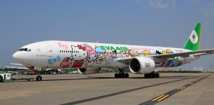 EVA Air Hello Kitty Jet Taiwan