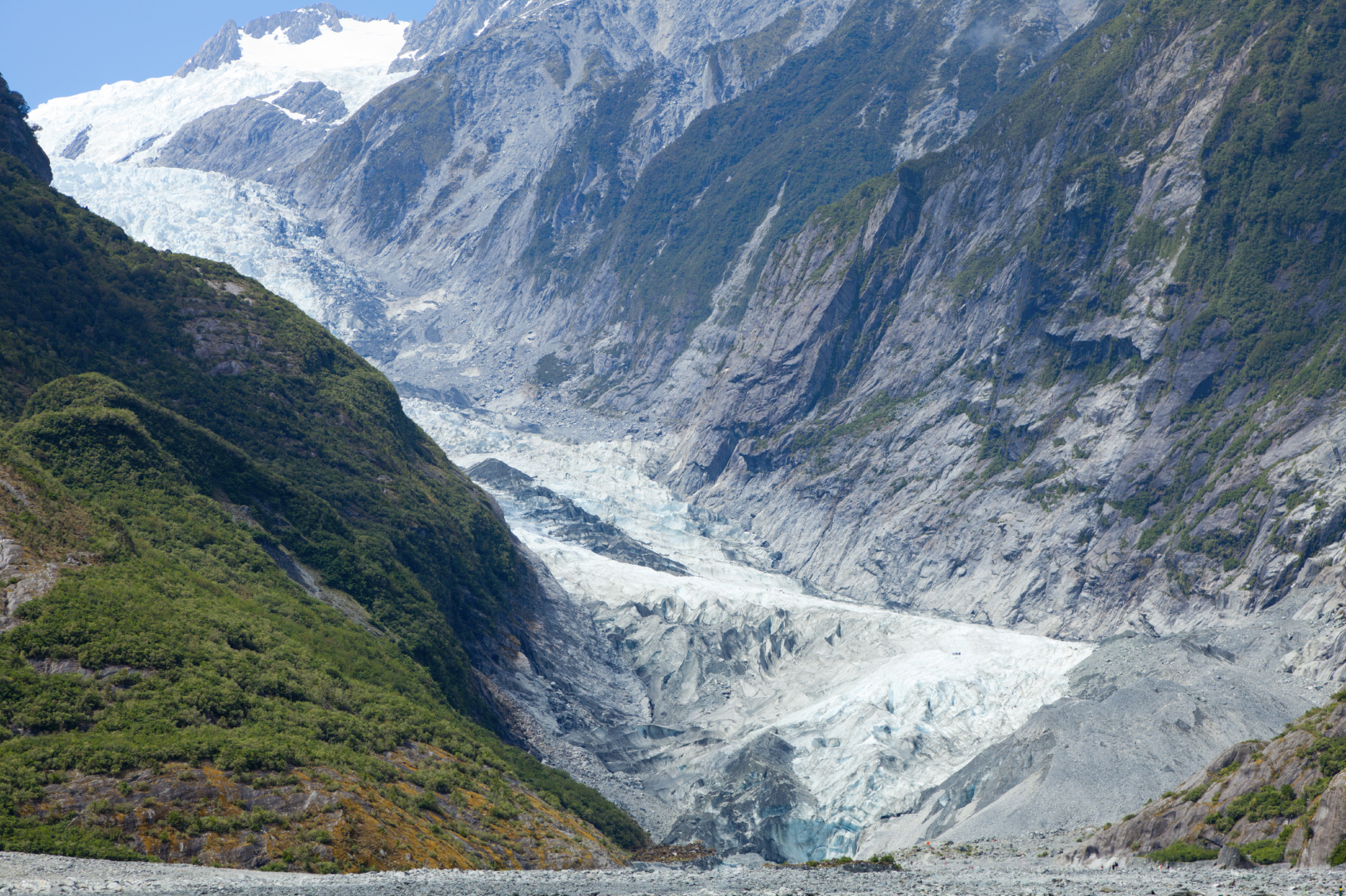 Scenic view of Franz Josef Glacier in New Zealand