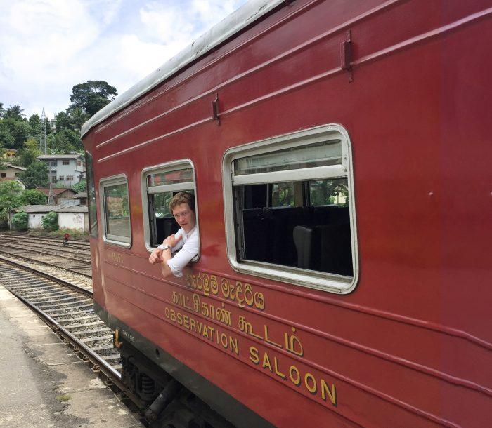 Observation Saloon Colombo to Kandy by Train in Sri Lanka