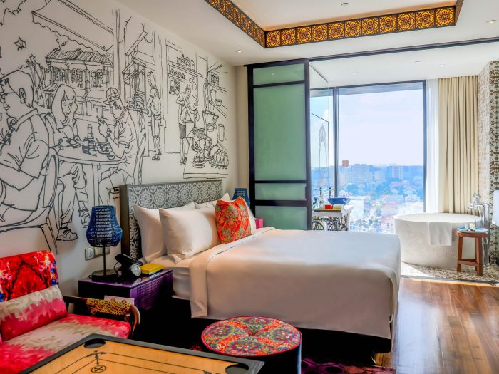 hotel indigo katong king bed premier view room with bath - new hotel in singapore 2016