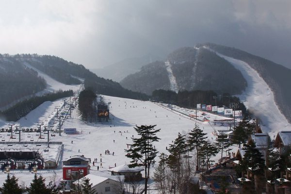 Skiing in Asia at Resort