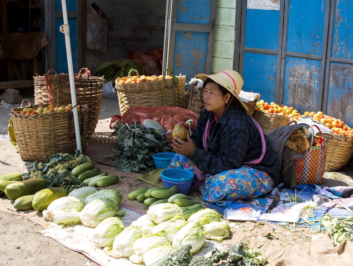 Mingalar Market Inle Lake Myanmar