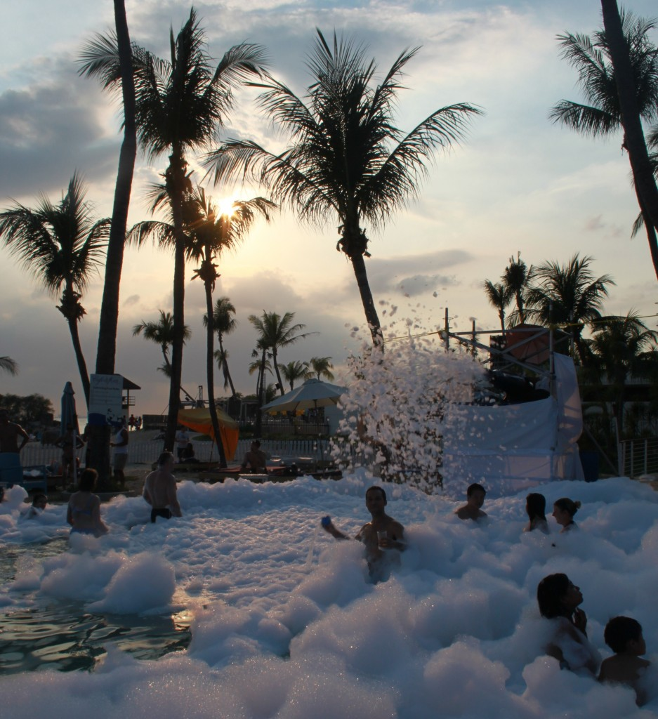 Foam Party at Cafe del Mar Sentosa