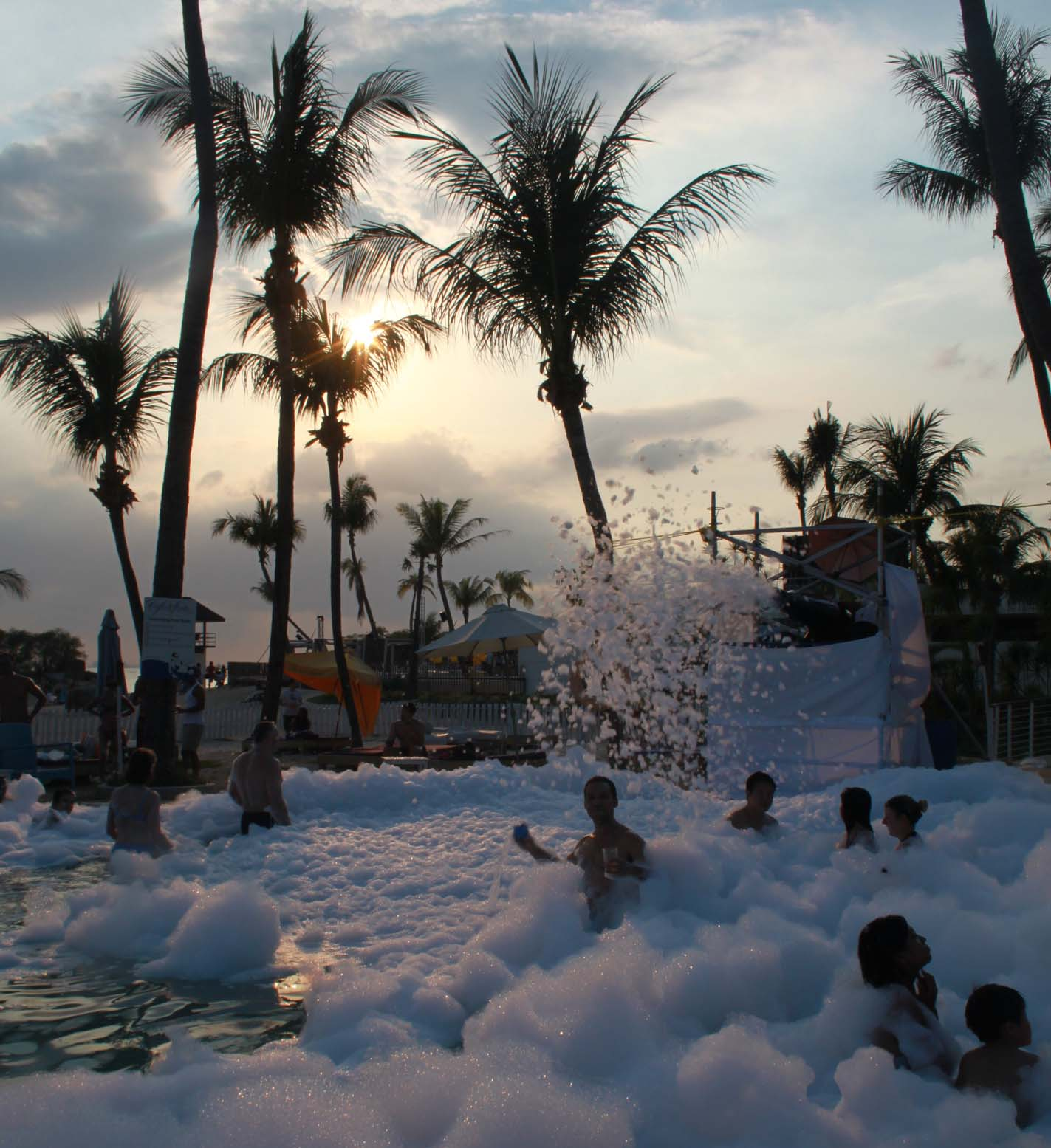 Foam Party at Cafe del Mar