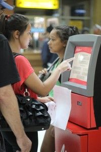 Air Asia Check-in using paper print out