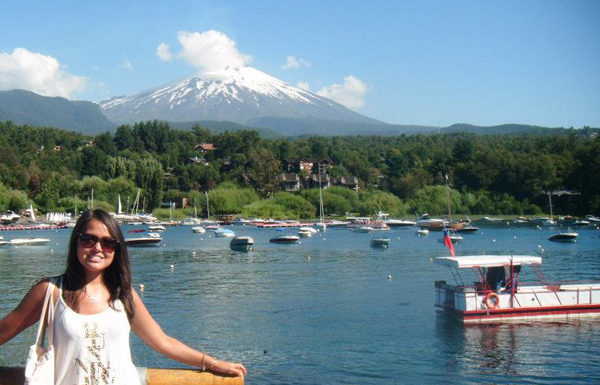 Beautiful Pucon and its Famous volcano Vallarica