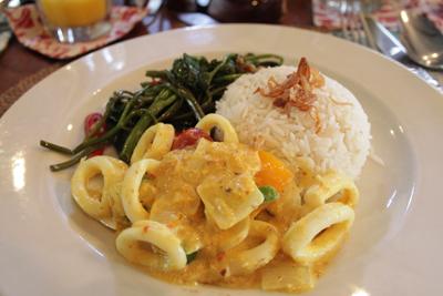 Biku Restaurant Bali squid curry
